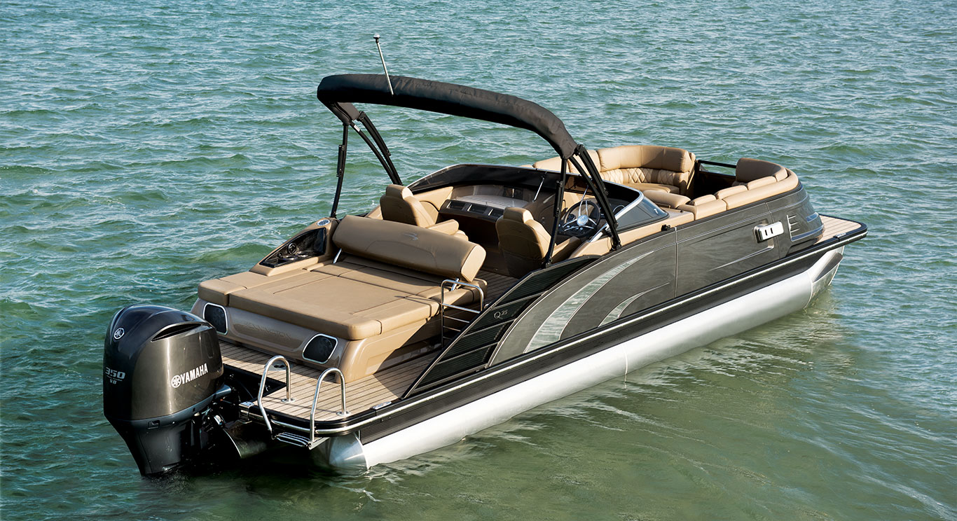Pontoon boats for sale for Luxury fishing boats