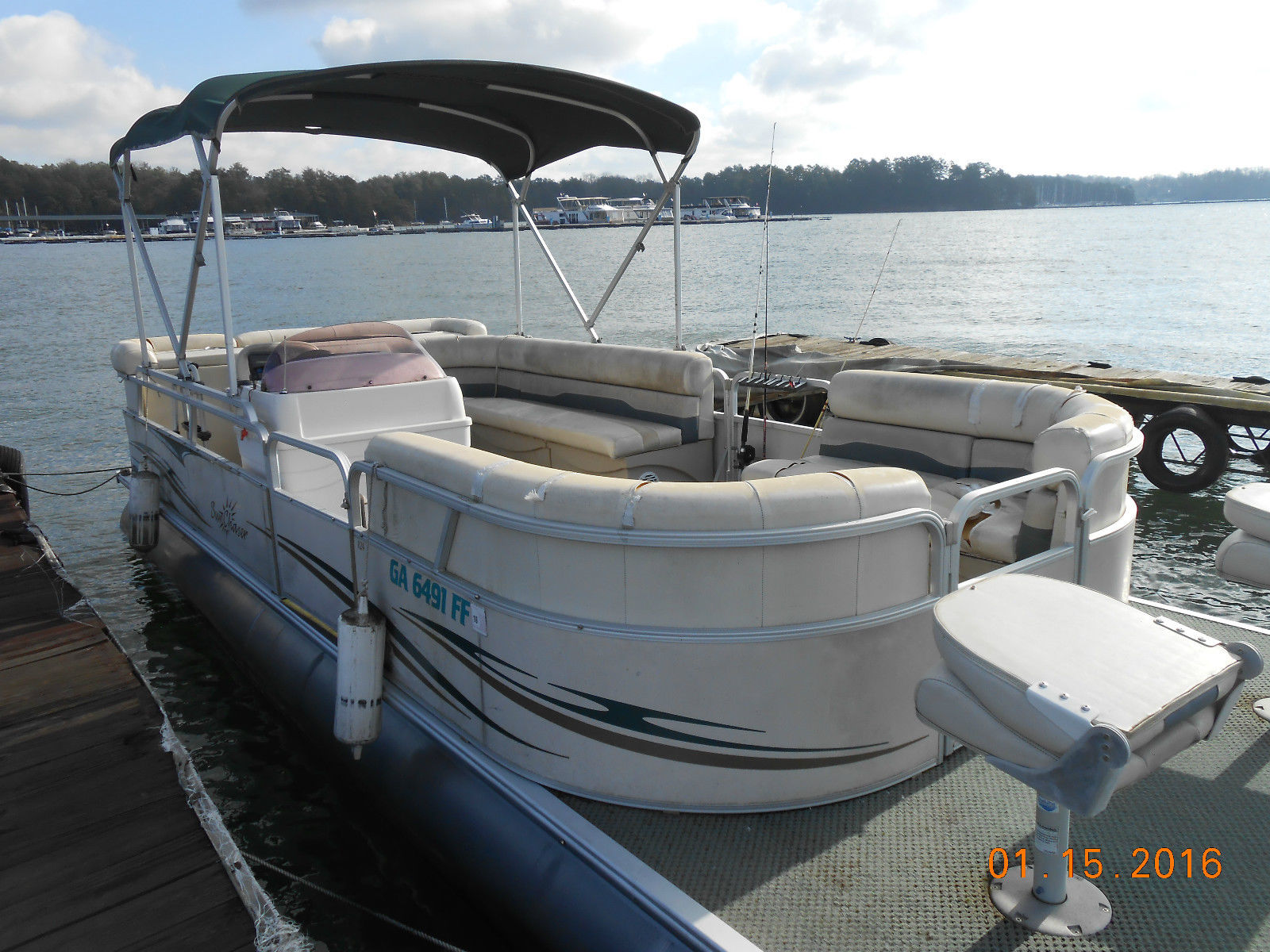 New and used pontoon and deck avalon boats for sale on for Used fishing kayaks for sale